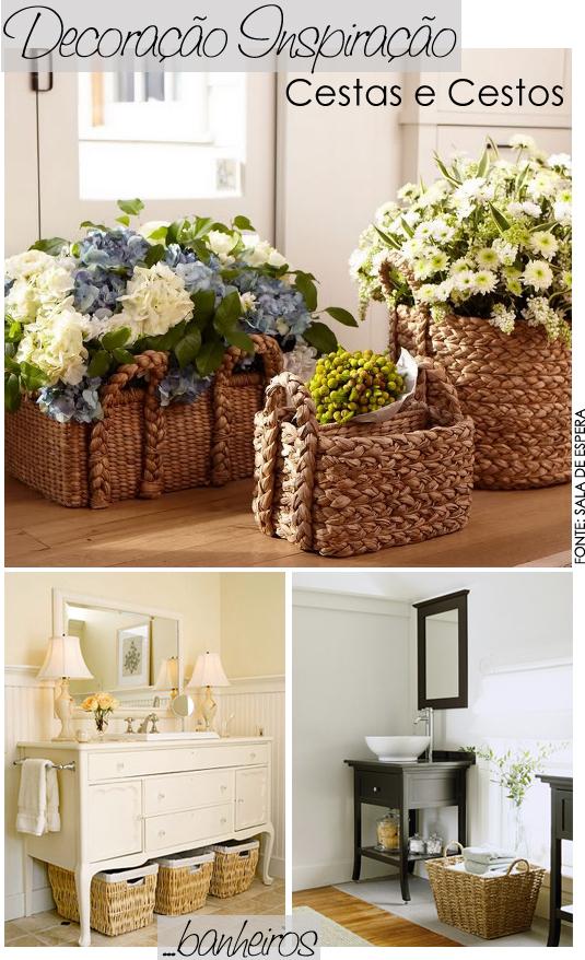 decoração com cestos -> Decoracao Banheiro Cestos